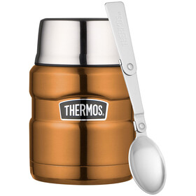Thermos King Drinkfles 450ml bruin/zilver